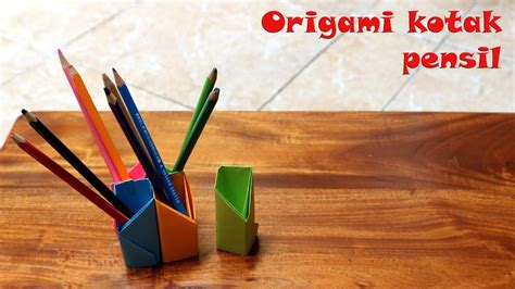 cara membuat rumah menggunakan kotak cara mudah membuat kotak pensil dengan origami youtube