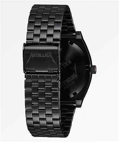metallica x nixon nixon x metallica time teller kill em all black watch