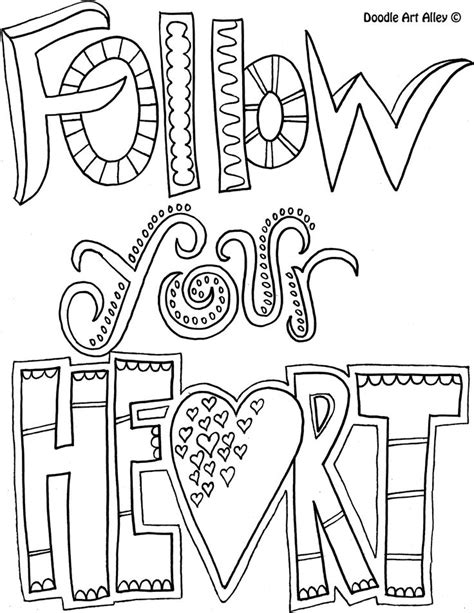 motivational quotes follow your coloring pages
