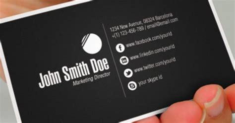 business cards with social media icons template social media icons for business cards choice image