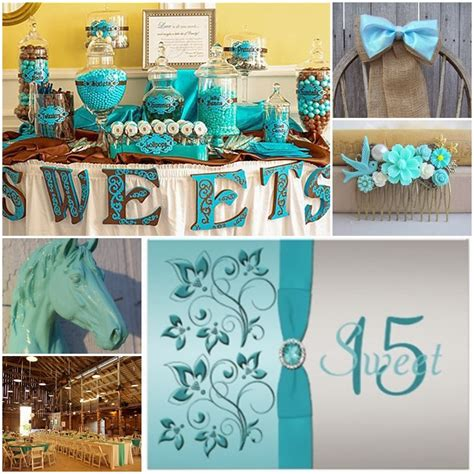 quinceanera country themes aqua blue country western sweet fifteen quinceanera theme