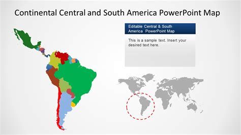 america map powerpoint continental america powerpoint map slidemodel