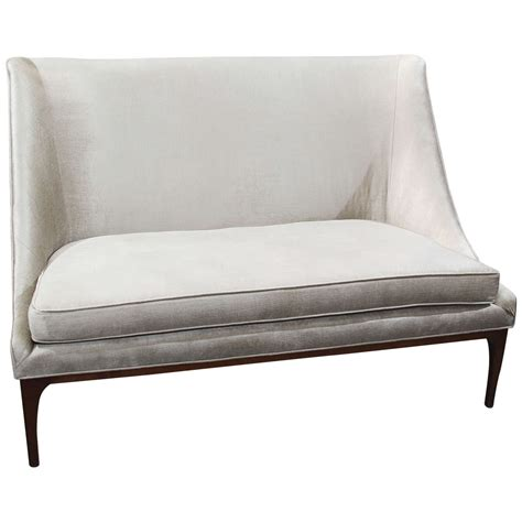 velvet loveseat silk velvet loveseat or small sofa at 1stdibs