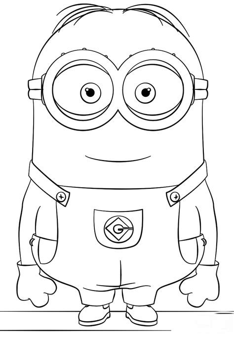 minion dave coloring page no show coloring pages for top 15 cutest minion coloring page for kids coloring