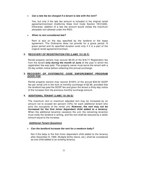 Rental Agreement Letter For Family Member Los Angeles Rent Stabilization Handbook Rent