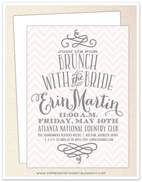 invitations for bridal shower luncheon bridal shower invitation templates bridal brunch shower