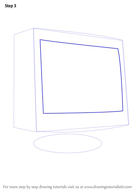 draw computer learn how to draw a computer monitor computers step by step drawing tutorials