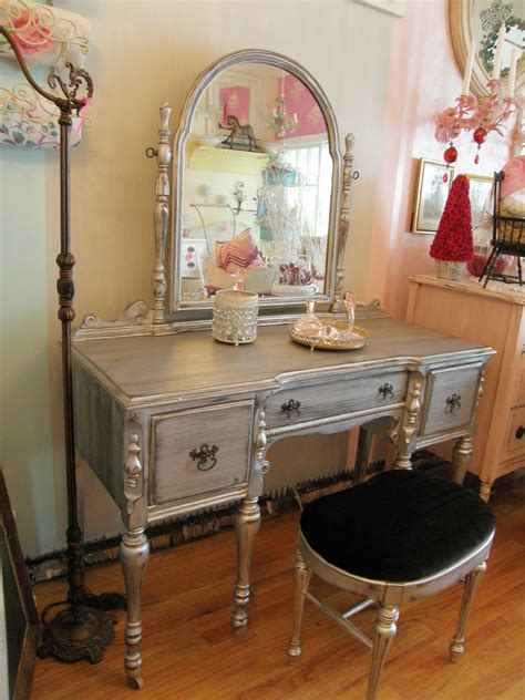 silver bedroom vanity vintage chic furniture schenectady ny january 2011
