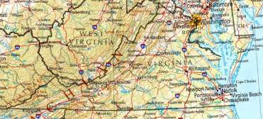 Map Virginia by Virginia Reference Map