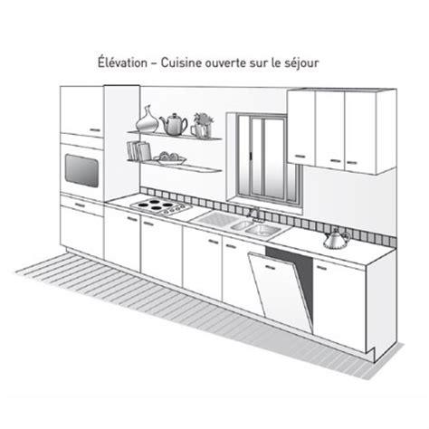 plans cuisine ouverte plan de cuisine ouverte