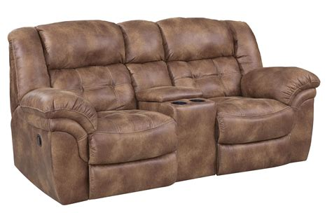 ivan smith sofas homestretch 129 casual reclining console loveseat with