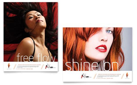 hair salonbposter hair stylist salon poster template word publisher