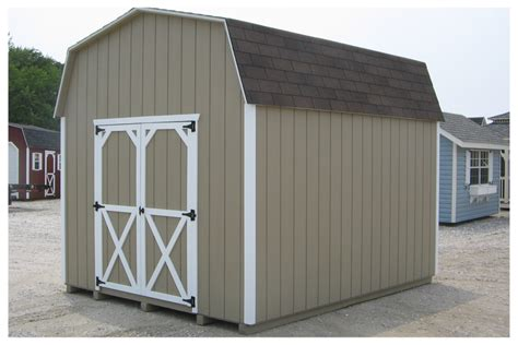 8x10 gambrel shed build your own outbuilding for storage step by step plans cd ebay