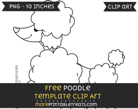 poodle template printable poodle template clipart