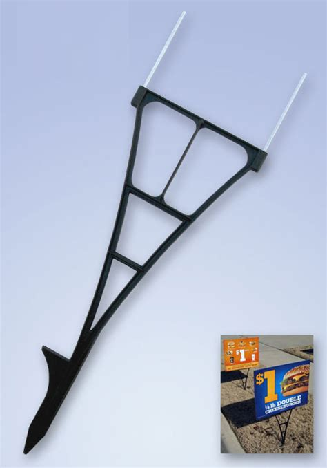 yard sign step stakes coroplast h turf signs