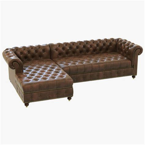 restoration hardware chaise lounge leather restoration hardware cambridge leather left arm sofa