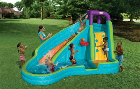 kids backyard toys inflatable water slide kids backyard pool fun toys bounce