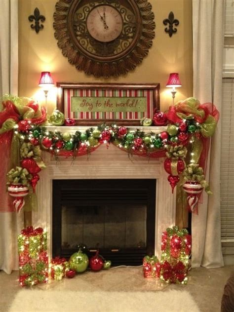 fireplace mantel decorating christmas decor pinterest