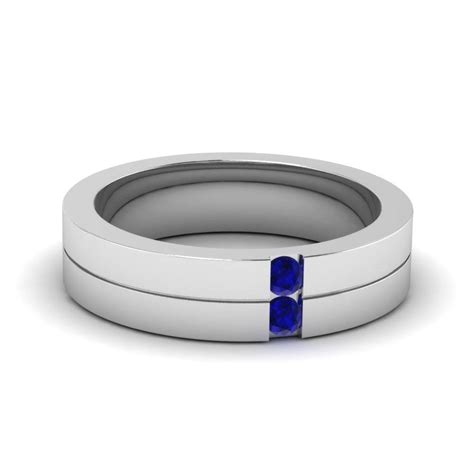 Wedding Bands Sapphire by 15 Best Collection Of S Blue Sapphire Wedding Bands