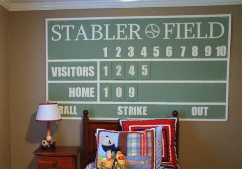 bedroom baseball board game diy baseball scoreboard tutorial signs by andrea