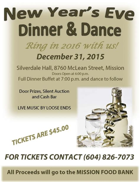 new year dinner flyer mission food bank fundraiser new years fvn
