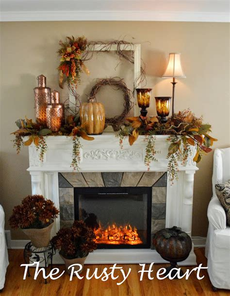 fall mantel decor creative juices decor it s not late to inexpensively