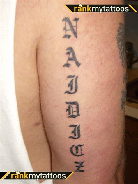 last name arm design tattoomagz