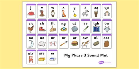 printable games for phase 3 phonics phase 3 sound mat literacy phonics word families and