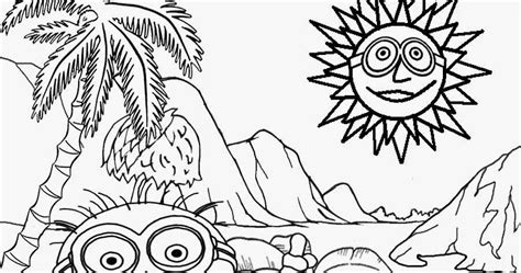 hawaiian minion coloring page free coloring pages printable pictures to color kids