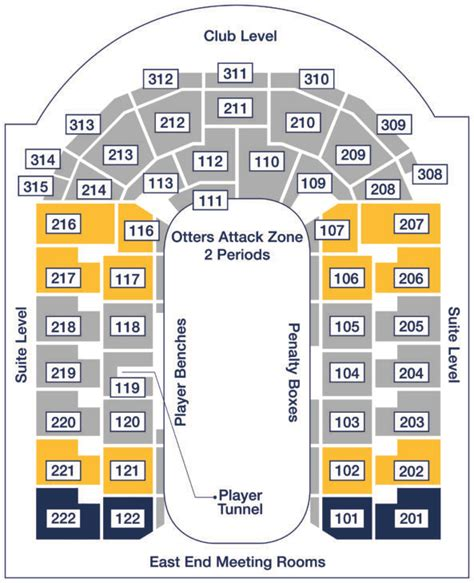 erie insurance arena seating tickets erie otters