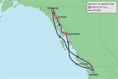 seattle to juneau map 22 looks carnival cruise alaska route punchaos