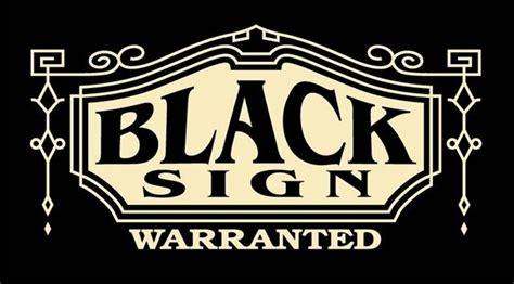 The Sign Black black sign ブラックサイン