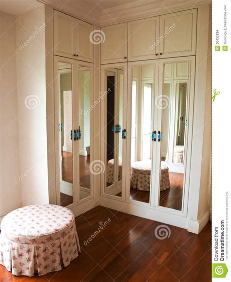 Reflection Wardrobe by Interior Of Mirrored Wardrobe With Reflection Of The