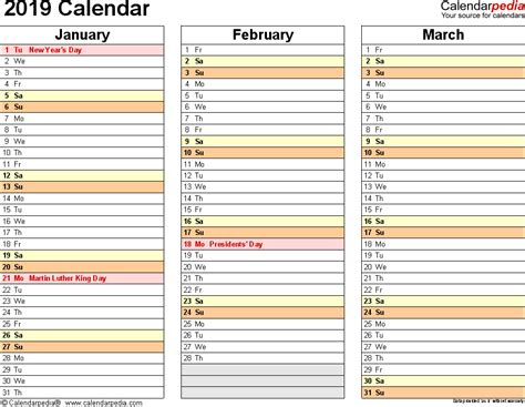 2019 Calendar Download 17 Free Printable Excel Templates Xlsx 2019 Planner Template