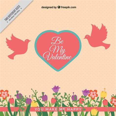 fondo de corazones vintage descargar vectores gratis fondo vintage de flores y coraz 243 n con palomas descargar