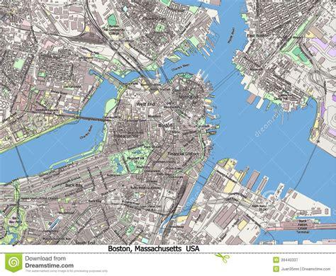 boston united states map boston massachusetts united states hi res aerial view