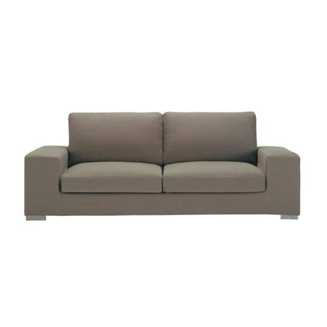 cotton sofas 3 4 seater cotton sofa in taupe new york maisons du monde