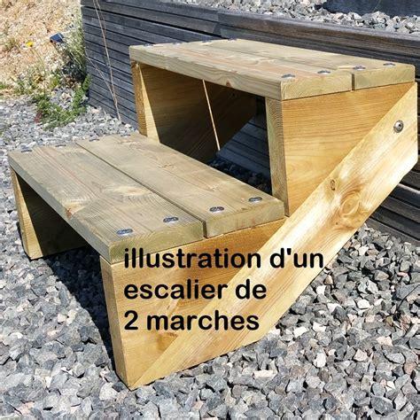 Largeur D Une Marche D Escalier by Pack Escalier 3 Marches En Largeur 60cm En Bois Autoclave