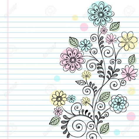 doodle craft paper flowers background notebook search backgrounds