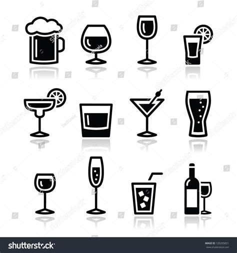 drink vector drink alcohol beverage icons set stock vector 120205831