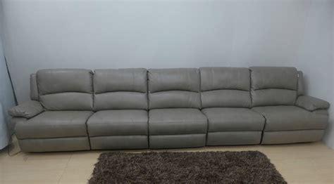 large luxury sofas mizzoni italia lethex grey manual reclining luxury large