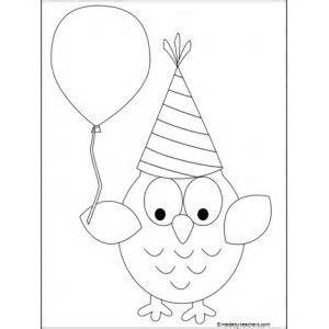 owl birthday coloring page owl birthday pages coloring pages