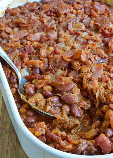pork and beans double pork baked beans recipe wonkywonderful