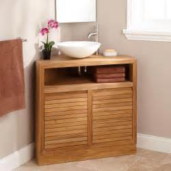 bathroom corner vanities 34 quot cuyama teak corner vanity bathroom