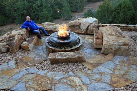 Backyard Sitting Area Ideas by Natural Stone Walkways Stone Patios Colorado Denver