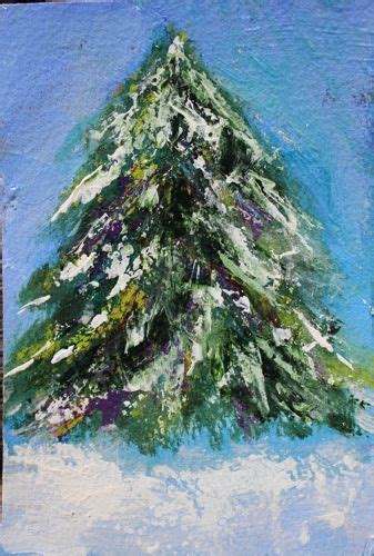 acrylic painting evergreen trees whitehouse paintings rochester tree acrylic portrait