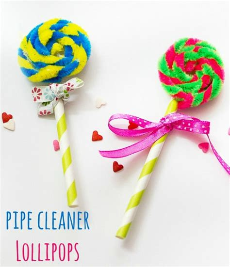 Carnival Themed Table Decorations Pipe Cleaner Lollipops Make And Takes