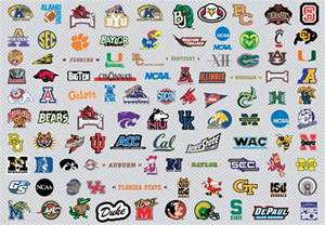Art logos of the us college basketball teams playing in the ncaa men s