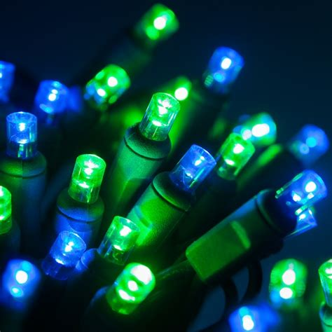blue and green xmas lights wide angle 5mm led lights 70 5mm blue green led lights 4 quot spacing