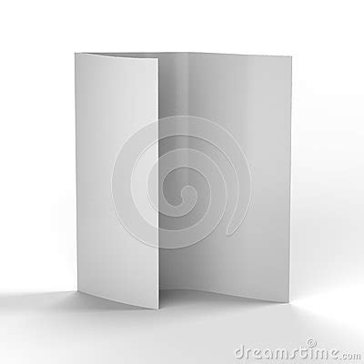 white paper sections white piece of blank folded paper royalty free stock